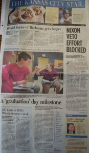 Front page of the KC Star on May 6