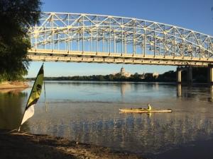 Karen Exon along the Missouri River in Jefferson City.